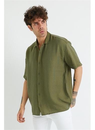 XHAN Bej Oversize Gömlek 1Yxe2-44883-25 Haki